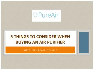 5 Things to Consider When Buying an Air Purifier