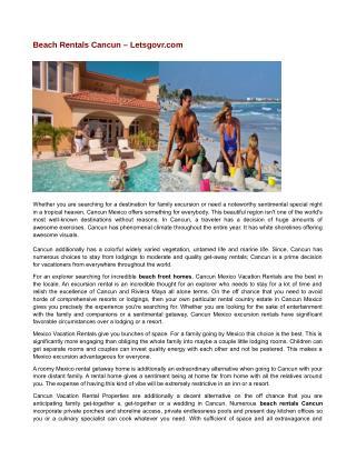 Beach Rentals Cancun – Letsgovr.com