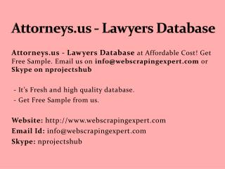 Attorneys.us - Lawyers Database