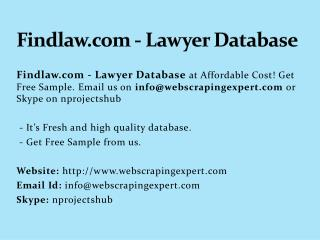 Findlaw.com - Lawyer Database