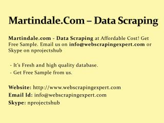 Martindale.Com – Data Scraping
