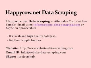 Happycow.net Data Scraping