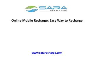 Online Mobile Recharge: Easy Way to Recharge