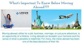 What's Important To Know Before Moving Abroad???
