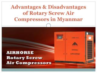 Advantages and Disadvantages of Rotary Screw Air Compressor in Myanmar