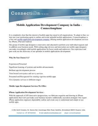 Mobile application development with various platform