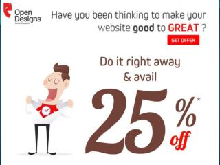 Web Design Services Exclusive 25% offer offer offer - Hurry up!!!