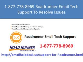 1-877-778-8969 Roadrunner Customer Service Help You To Resolve Issues