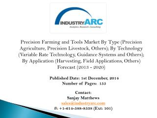 Precision Farming and Tools Market- precision agriculture indeed capable of saving famers' lives?