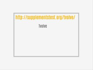 http://supplementstest.org/tvolve/