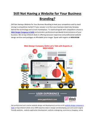 Still Not Having a Website for Your Business Branding?