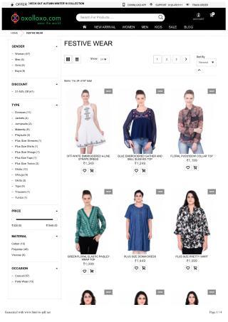 Festive wear Online shopping - Shop festive wear, women, men, kids, Girls, Boys, trendy clothing stores in india.oxollox
