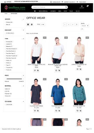 Online office wear shopping - Shop office wear, women, men, trendy online clothing stores in india.oxolloxo.com
