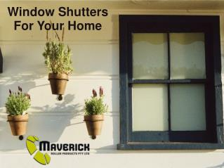 Window Shutter For Your Home