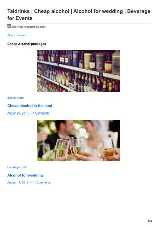 Buying alcohol for wedding