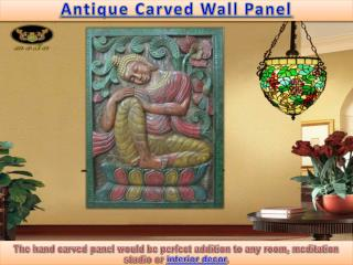 Antique Carved Wall Panel