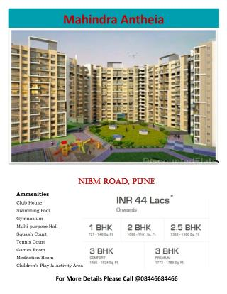 Mahindra Antheia Residential Project at Pimpri