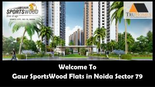 Gaur Sports Wood Amazing Flats in Noida Sector 79 Call 9289888000