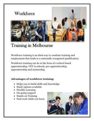 Workforce Training Melbourne