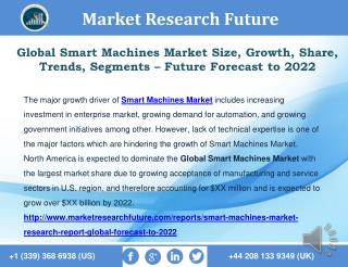 Global Smart Machines Market Technologies, Key Players, Applications, Regional Analysis � forecast to 2027