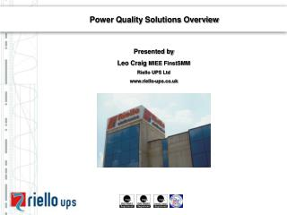 Power Quality Solutions Overview
