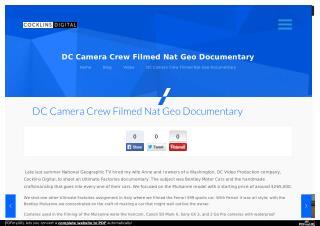 DC Camera Crew Filmed Nat Geo Documentary - Washington DC Video Production