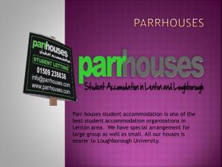 Student Houses Lenton