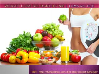 Weight Loss Rio Rancho NM - Luma Kai hCG