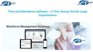 Time and Attendance Software – A Time Saving Tool for Large Organizations