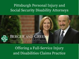 Pennsylvania Law Firm - Berger and Green