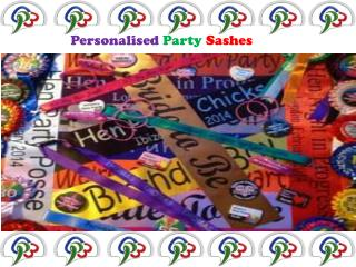 Personalised Party Sashes