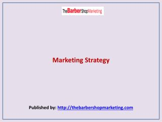 The Barber Shop Marketing-Marketing Strategy