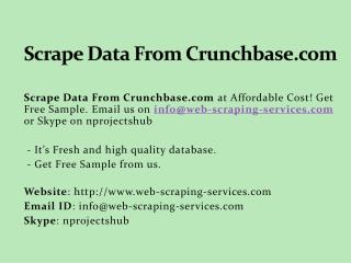 Scrape Data From Crunchbase.com