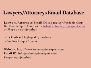 Lawyers_Attorneys Email Database