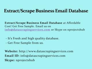 Extract_Scrape Business Email Database