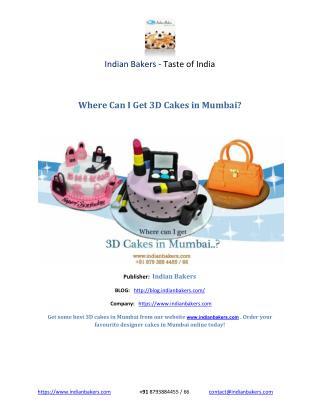 3D Cakes in Mumbai/ Designer Cakes in Mumbai- Indianbakers.com