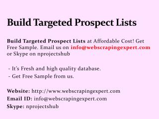 Build Targeted Prospect Lists