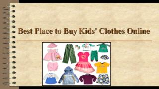 Best Place to Buy Kids Clothes Online