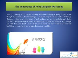 The Importance of Print Design in Marketing
