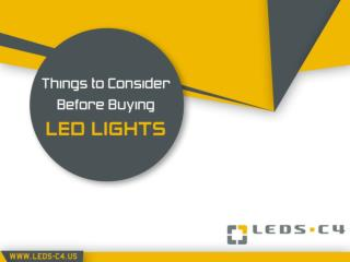 LEDS-C4 Manufacturer - LED Lights Buying Guide