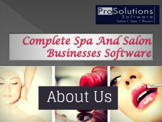 Complete Spa And Salon Businesses Software