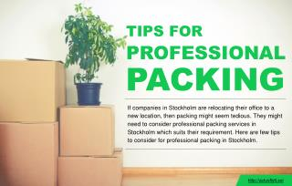 Professionally packing belongings for an office relocation