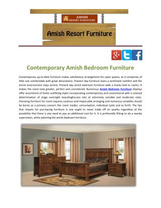 Contemporary Amish Bedroom Furniture