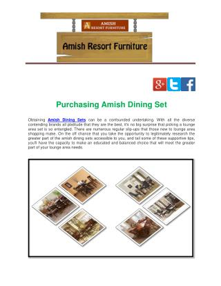 Purchasing Amish Dining Set