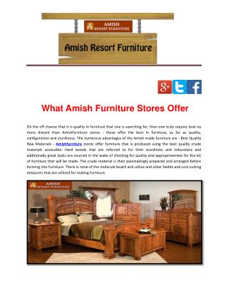 What Amish Furniture Stores Offer