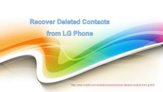 Recover deleted contacts from lg phone