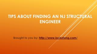 Tips About Finding An NJ Structural Engineer