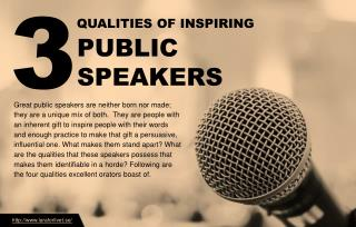 Three qualities of inspiring public speakers