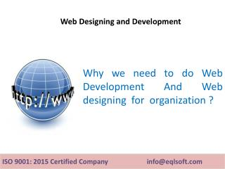 Web Development And Web Designing Services | EQL Business Solutions Pvt Ltd
