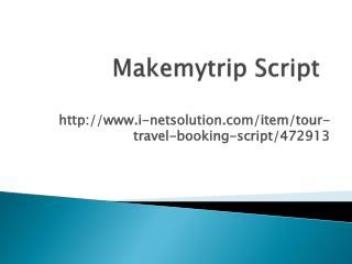 Makemytrip Script - InetSolution